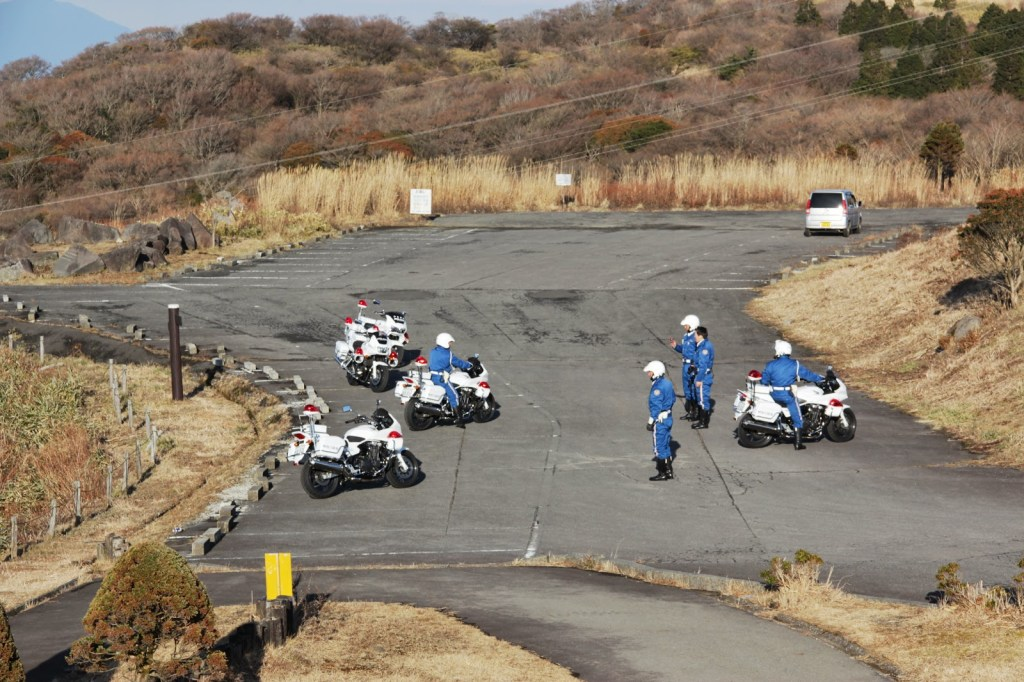 Many of the policemen also took a pit stop at Toyo Tires.