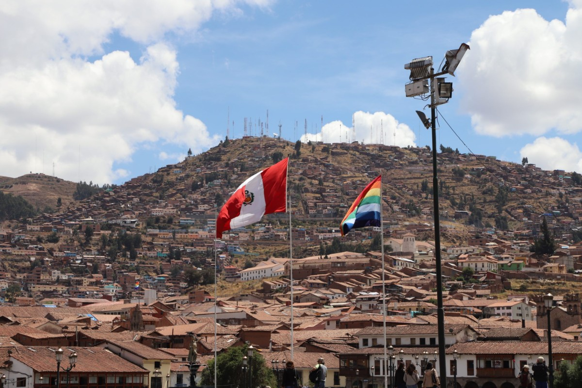 Cusco and Peru Flags