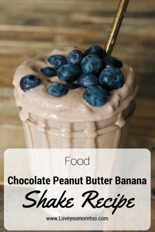 Pinterest food blogger love you more too north dallas blogger plano lifestyle blogger Chocolate Peanut Butter Banana Shake