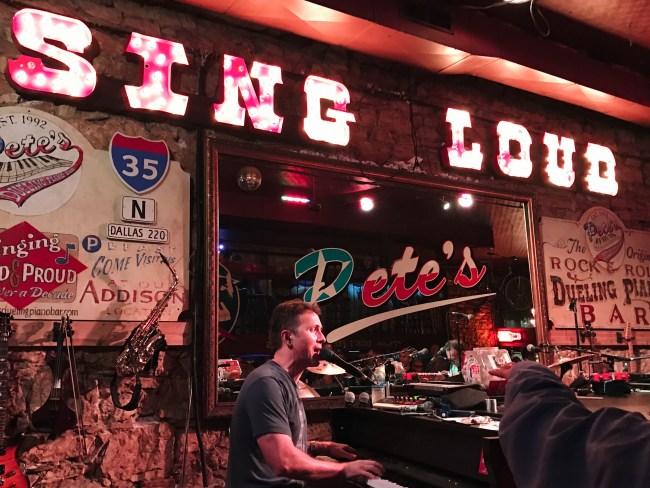 Savoy Sorbet love you more too north dallas blogger food blogger lifestyle blogger travel blogger Austin Eats Pete's Piano Bar