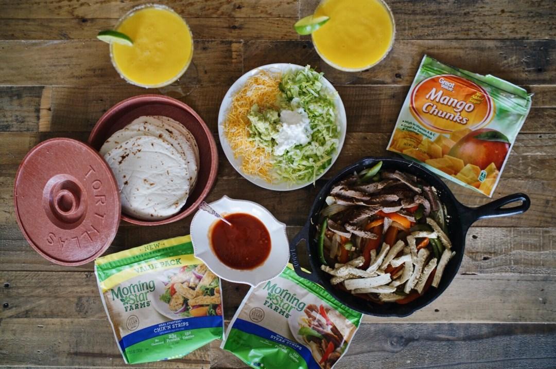 vegetarian combo fajitas skinny mango margarita MorningStar Farms vegolutions North Dallas Food Blog Blogger Love You More Too