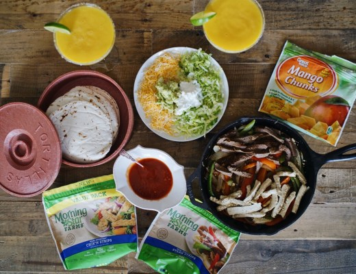 vegetarian combo fajitas skinny mango margarita MorningStar Farms vegolutions North Dallas Food Blog Blogger Love You More Too