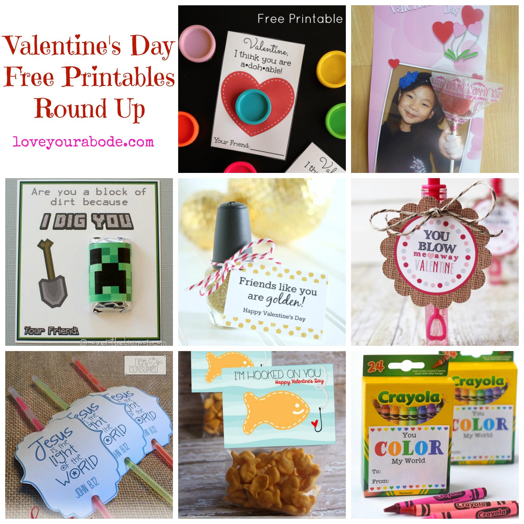 Valentine S Day Free Printables Round Up