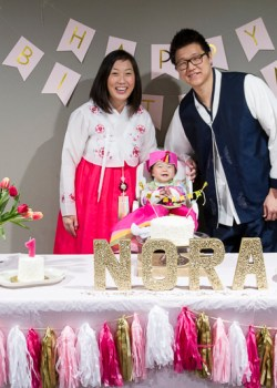Nora's Dohl (1st Korean birthday party)
