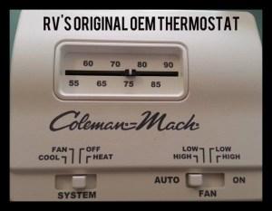 Hunter 42999B Digital RV Thermostat  Upgrading the OEM