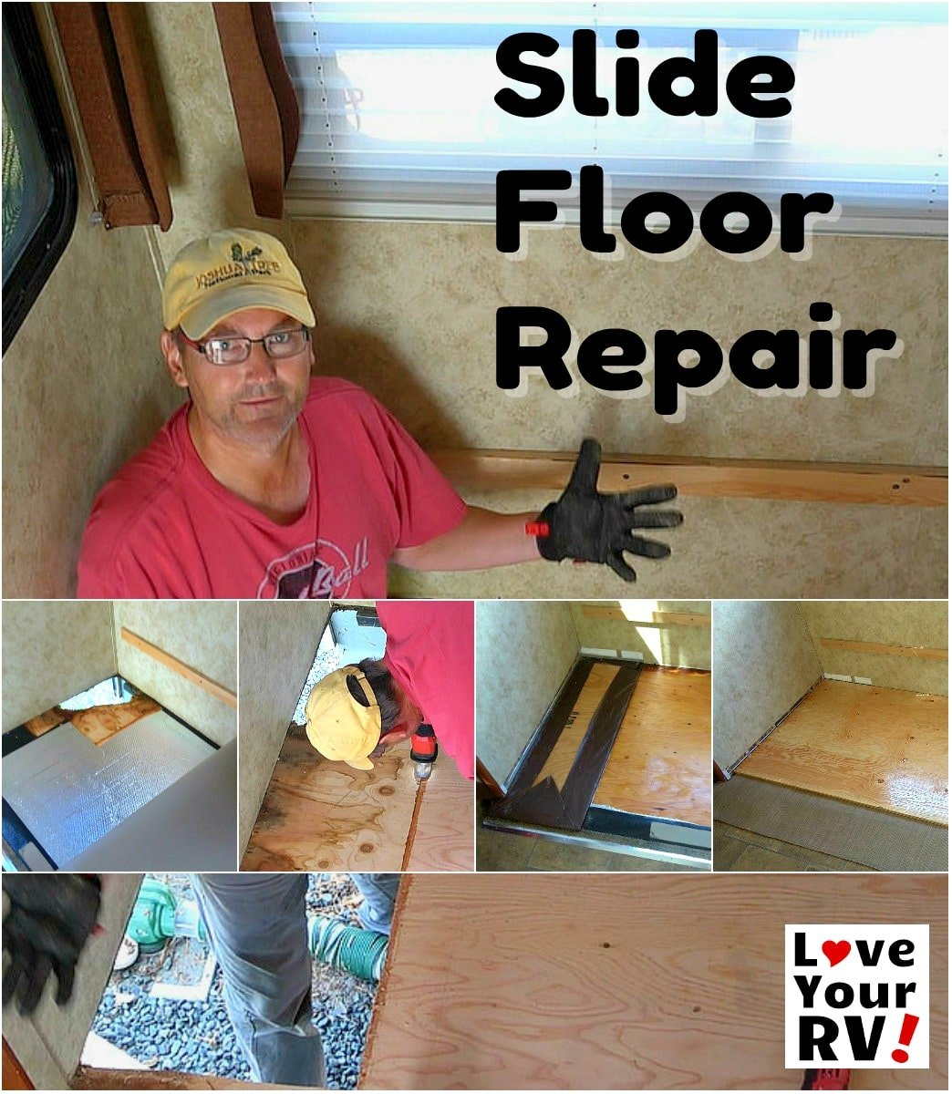 Rotted Rv Slide Out Floor Repair Fixed Manufacturer Flaw How