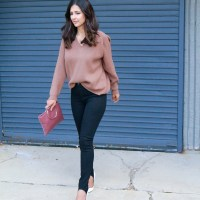 Slouchy Sweater and Stirrup Pants