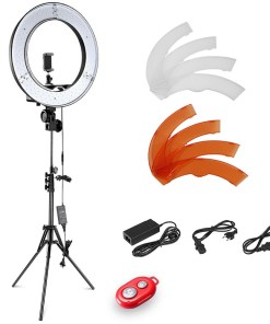 Outer LED Ring Light with Light Stand and Soft Tube Color Filter