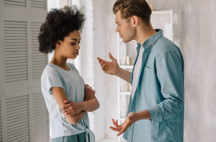 Never Marry Men With These Traits - Manipulative guy talking to his lady