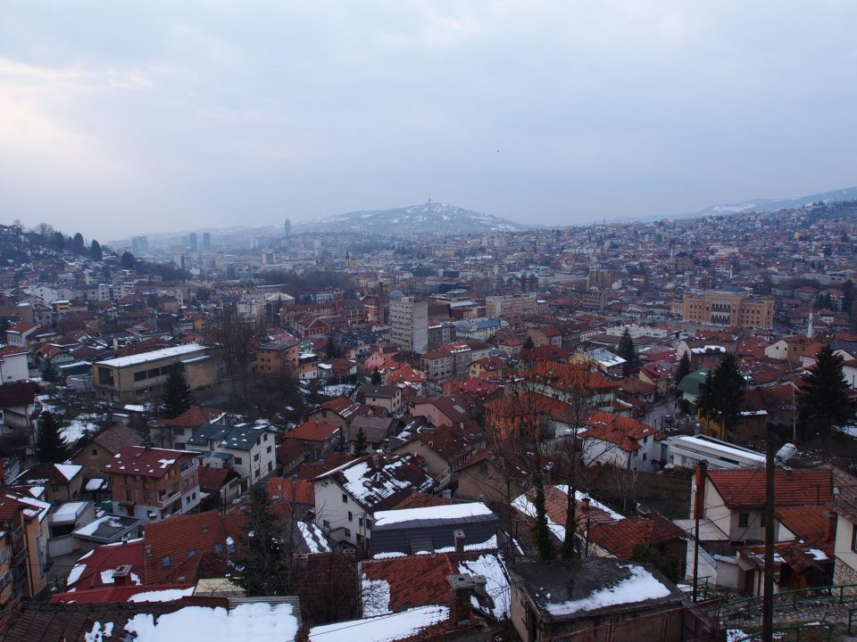 sarajevo trebevic inverno bosnia panorama