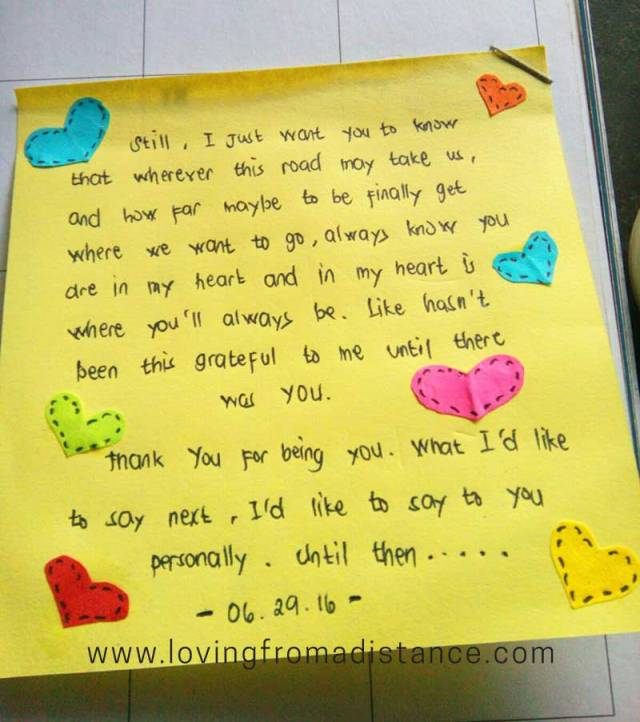 Long Distance Relationship Love Letters