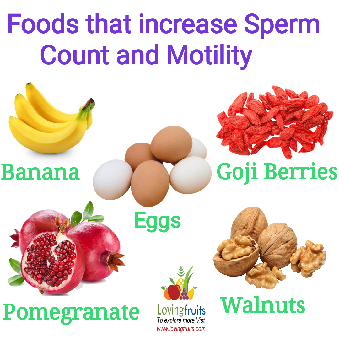 what to eat to increase sperm count