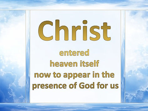 "Jesus Appeared In The Presence Of God ""For Us"""