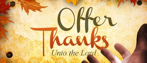 Offer God A Sacrifice Of Thanksgiving