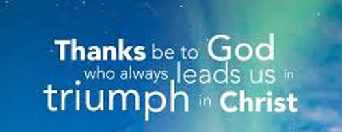 God Always Leads Us In Triumph