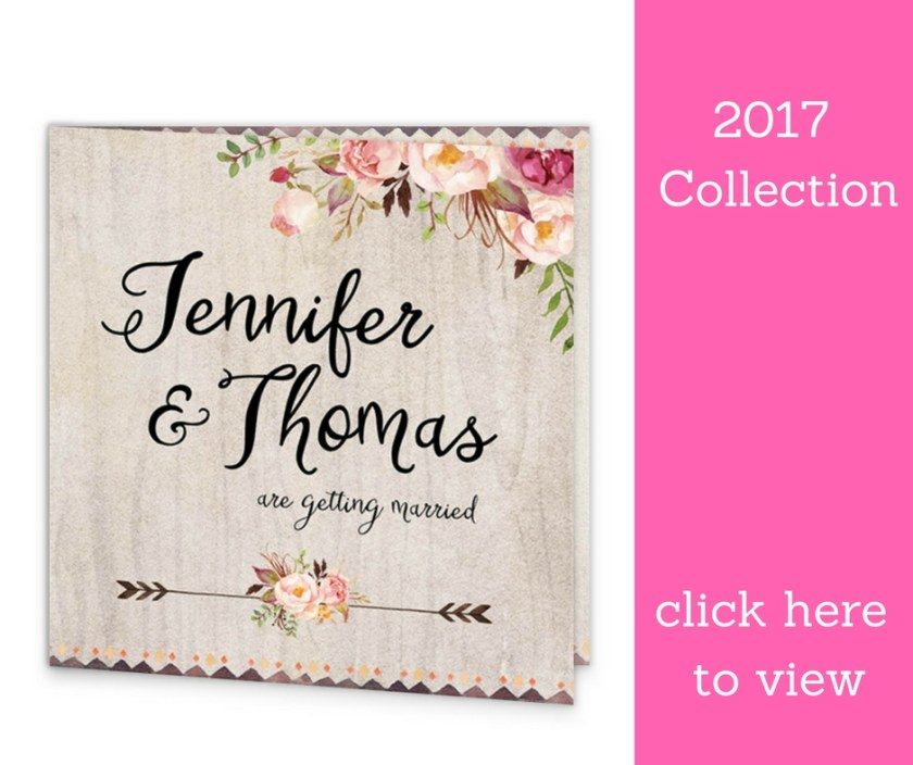 Flowering Affection Wedding Invitation