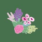 Ilustracion flores derecha