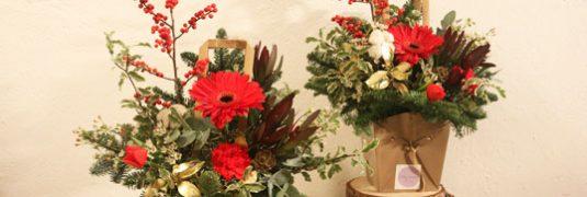 talleres florales navidad