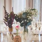 flores para el banquete boda personalizados