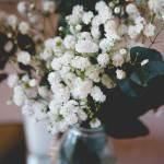 Flores mesa del banquete de la boda