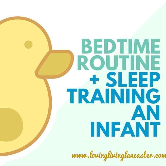 bedtime routine+ sleep training