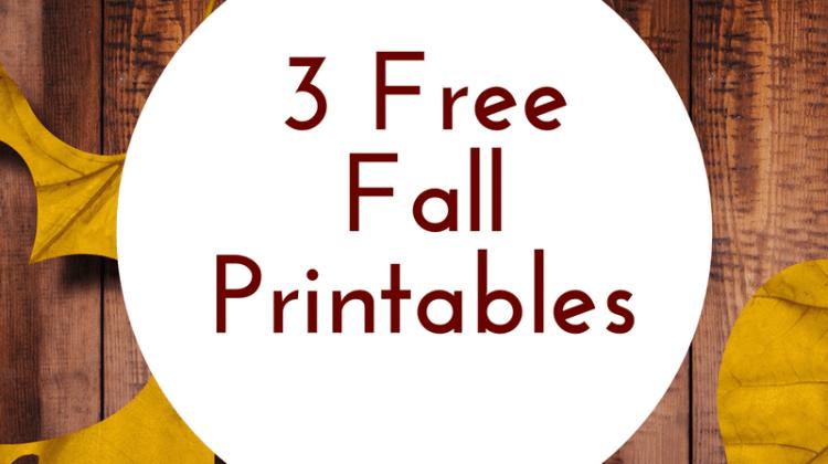 3 Free Fall Printables
