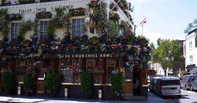 Churchill Arms Pub in London