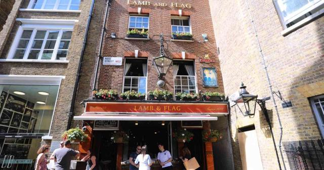 Lamb and Flag Pub in London