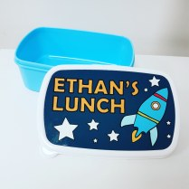 Personalised blue lunchbox for boys