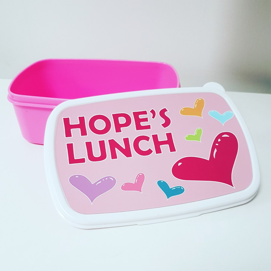 Personalised Pink Lunch Box