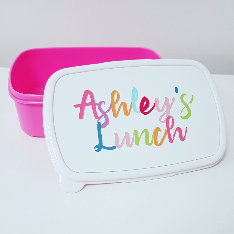 Personalised lunch box for work or school