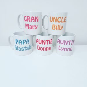 Personalised relative mug with year