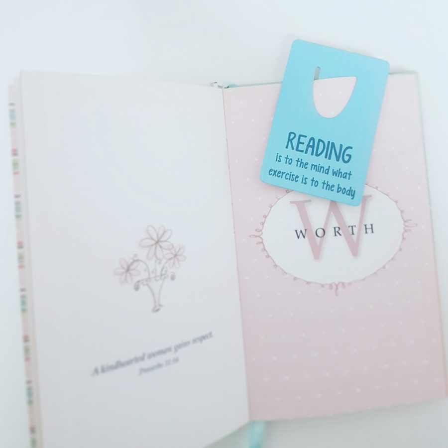 Small bookmark - reading is to the mind what exercise is to the body