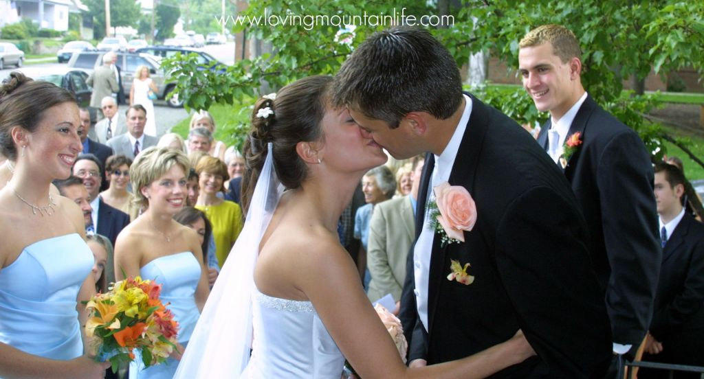 Wedding Kiss Loving Mountain Life