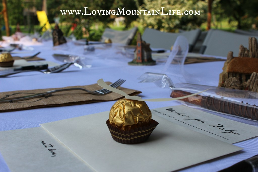 Place Settings for a Harry Potter shower from Loving Mountain Life