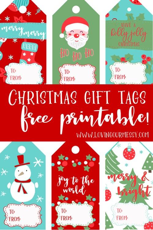 Christmas Gift Tags Free Printable Loving Our Messy