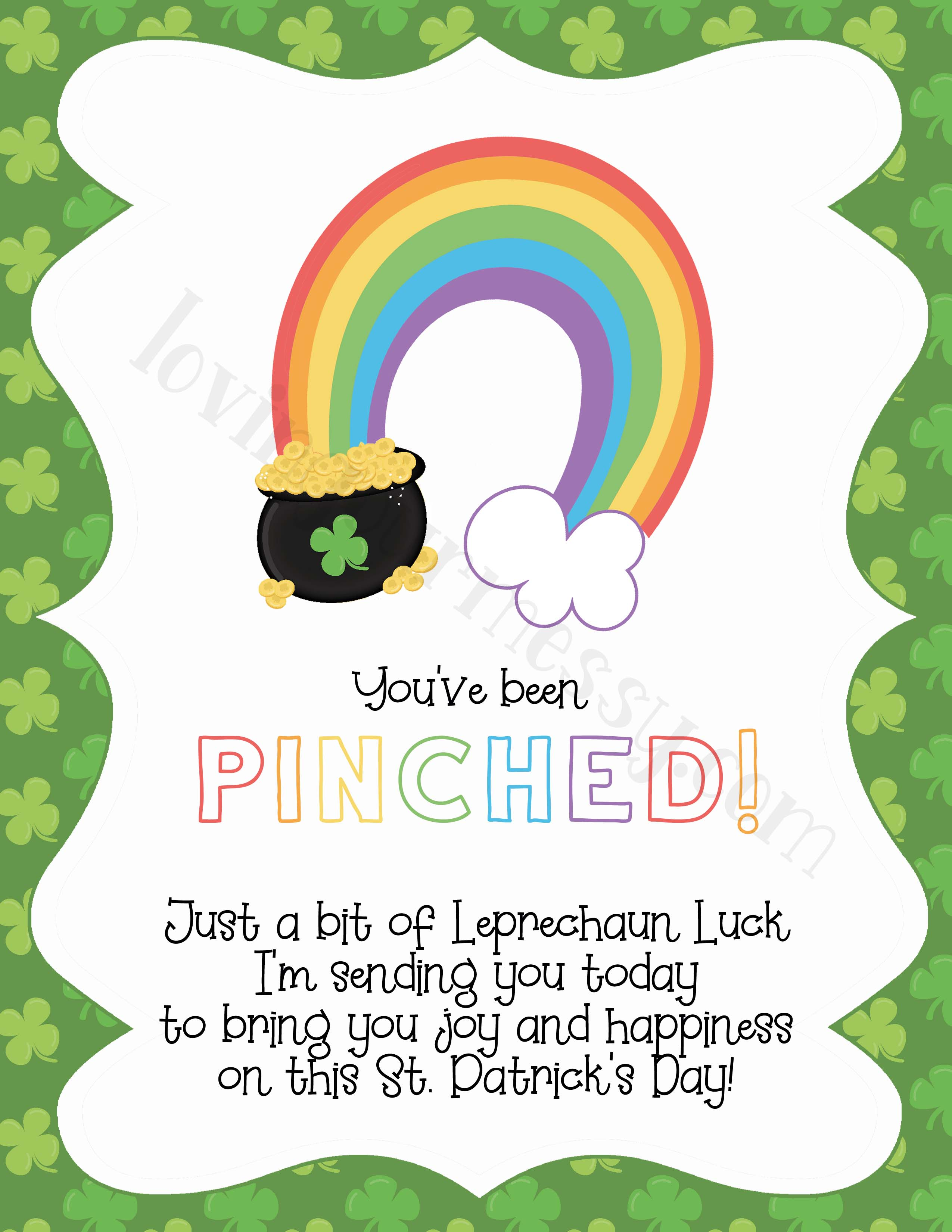 picture regarding Printable Leprechaun referred to as Leprechaun Notes for Children - St. Patricks Working day Free of charge Printable