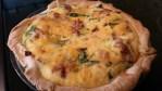 cheesy bacon spinach quiche