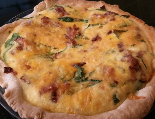 cheesy bacon spinach quiche