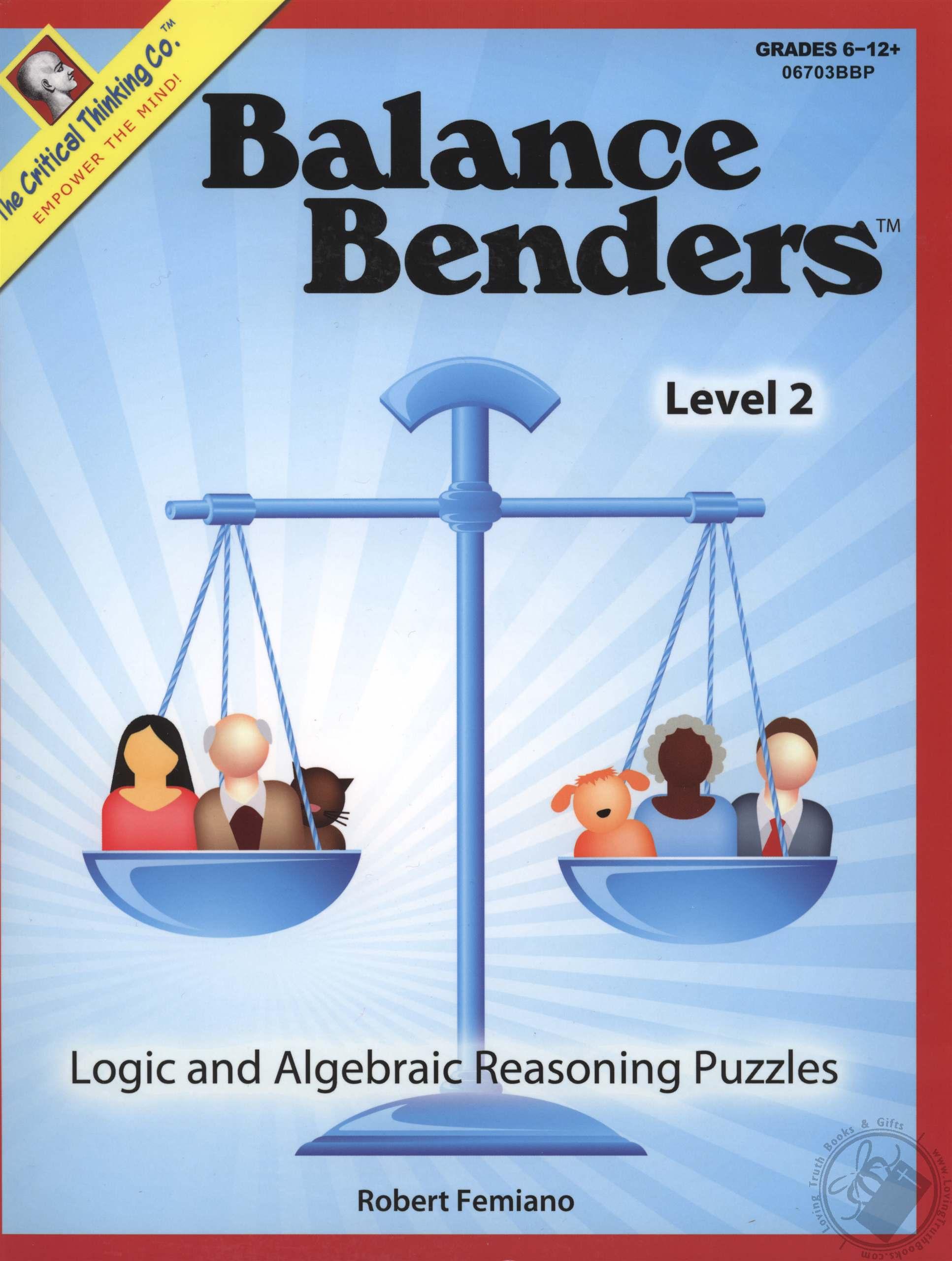 Balance Benders Level 2 Logic And Algebraic Reasoning