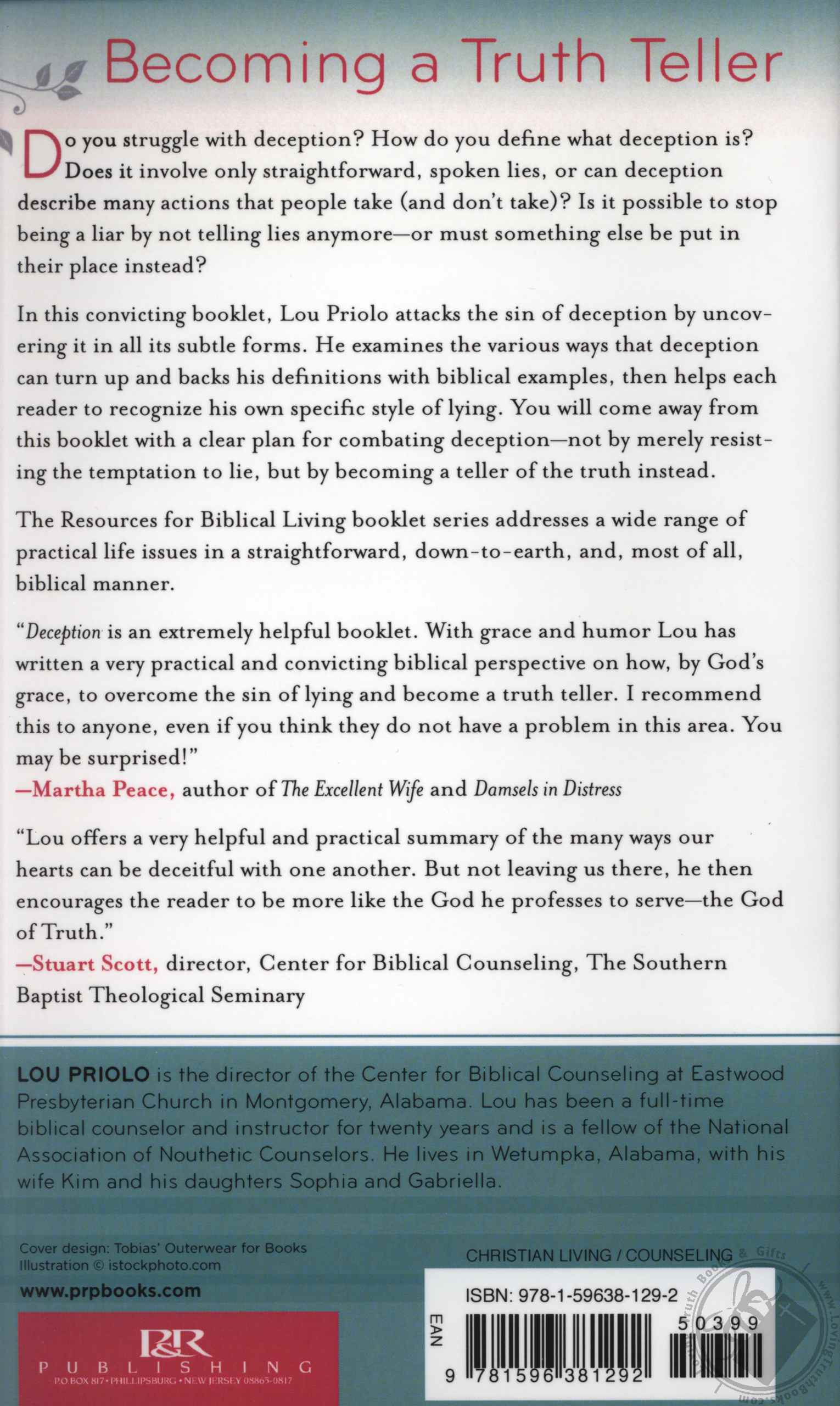 Deception Letting Go Of Lying Resources For Biblical Living By Lou Priolo Book Booklet
