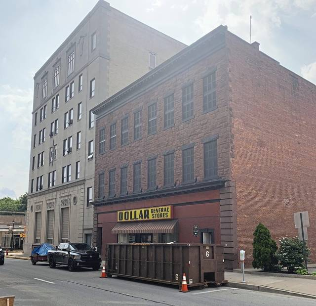 Latrobe's Dollar General store is slated to move to Depot Street from its location in an L-shaped building with entrances on Ligonier Street and on Main Street, seen above.