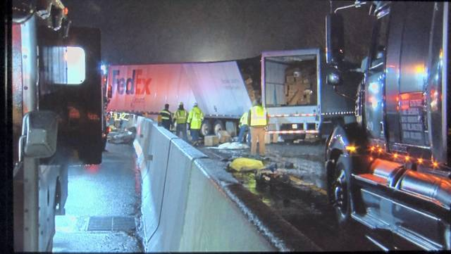 Crews respond to a fatal crash on the Pennsylvania Turnpike in Mt. Pleasant Township early Sunday morning, Jan. 5, 2020.