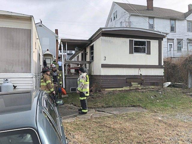 A fire Thursday gutted a mobile home in an alley behind the 1500 block of Broad Street in South Greensburg. No one was home, but firefighters rescued a pet dog in the 12:10 p.m. blaze.