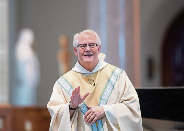 Archabbot of Saint Vincent, the Rev. Martin de Porres Bartel, participates in an Abbatial Blessing at Saint Vincent on Friday<ins>,</ins><ins> July 10, </ins><ins>2020</ins>.