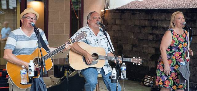 """""""The Bricks"""", provide musical entertainment at the Westmoreland Cultural Trust's TGIS, (Thank Goodness It's Summer), free summer concert, held at The Palace Theatre in Greensburg on Thursday evening, July 5, 2018."""