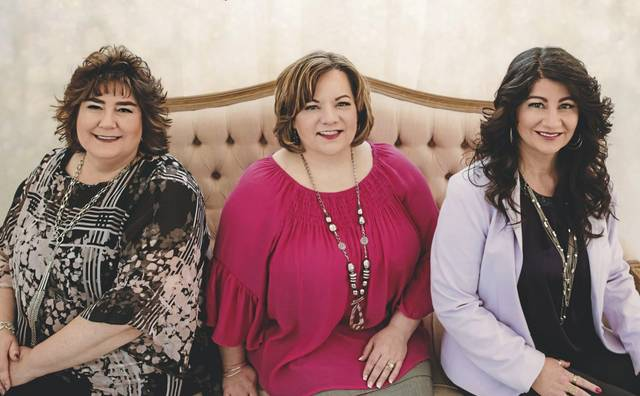 From left: Michelle Tantlinger, Kelli Moore and Melissa Tressler are the members of the progressive Southern gospel group, New Journey.