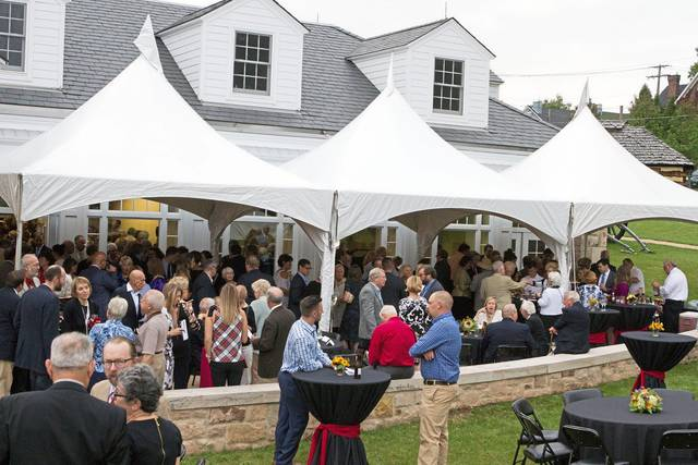 The Cannon Ball and other social events are returning to Fort Ligonier following a pandemic hiatus. Here, guests mingle during the 2017 signature fundraiser.