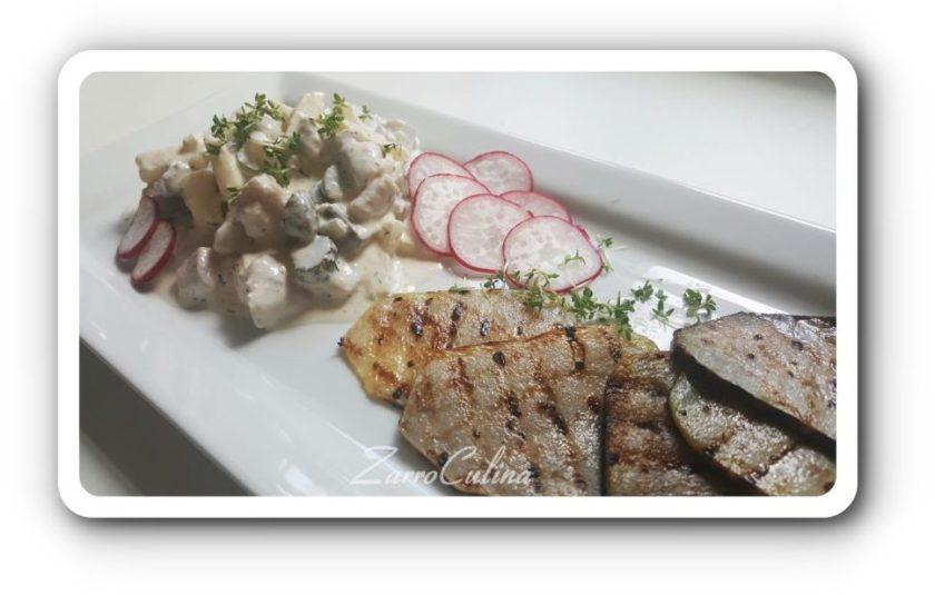 Matjessalat mit gegrilltem Kohlrabi - Bild I