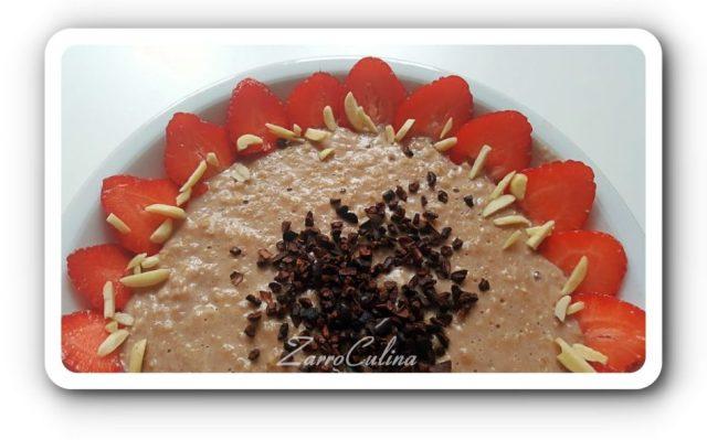 ♡ Erdbeer Schoko Porridge - Schokogenuss am Morgen für gute Laune